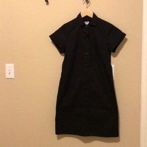 J. Crew Factory Black Cotton Shift Dress Size XXS